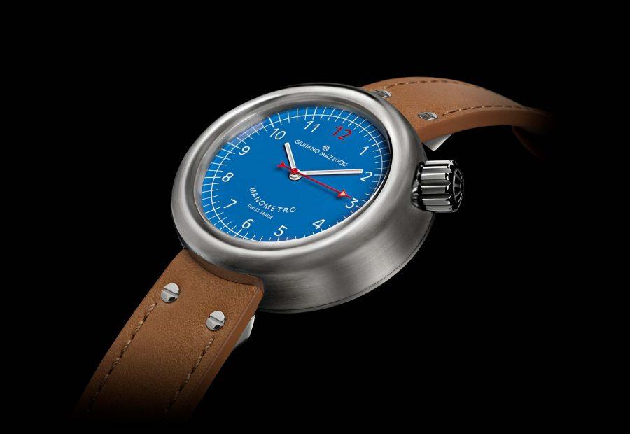 Manometro watch brushed blue profile