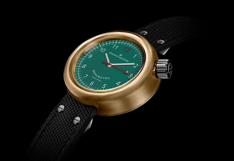 GM MANOMETRO BRONZE 3 4 green dial