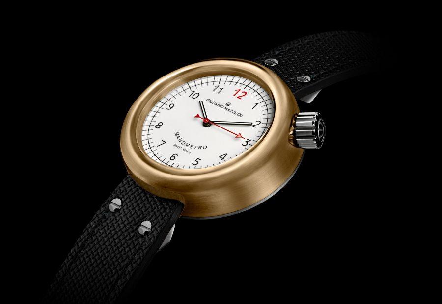 GM MANOMETRO BRONZE 3 4 white dial
