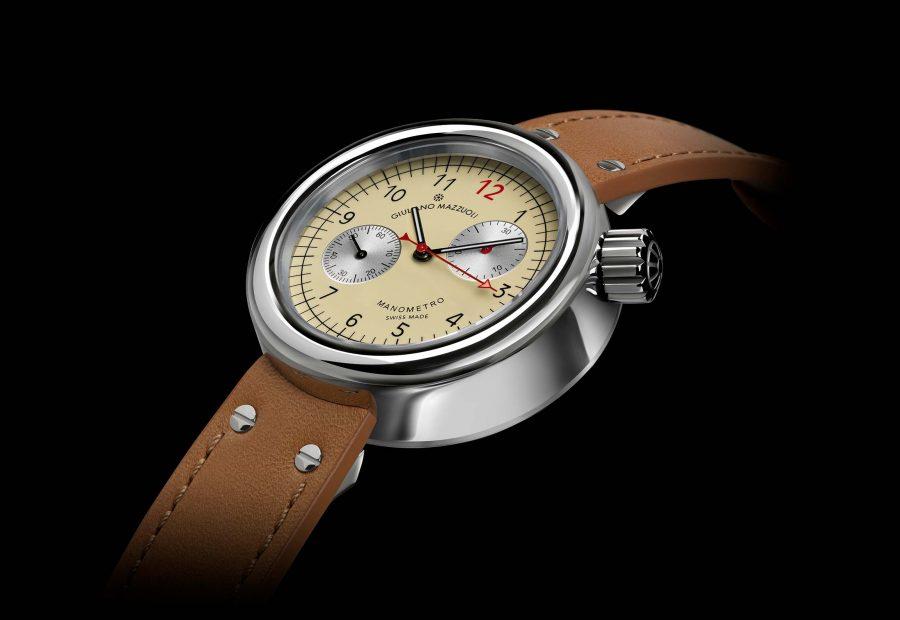 Manometro watch chronograph ivory profile