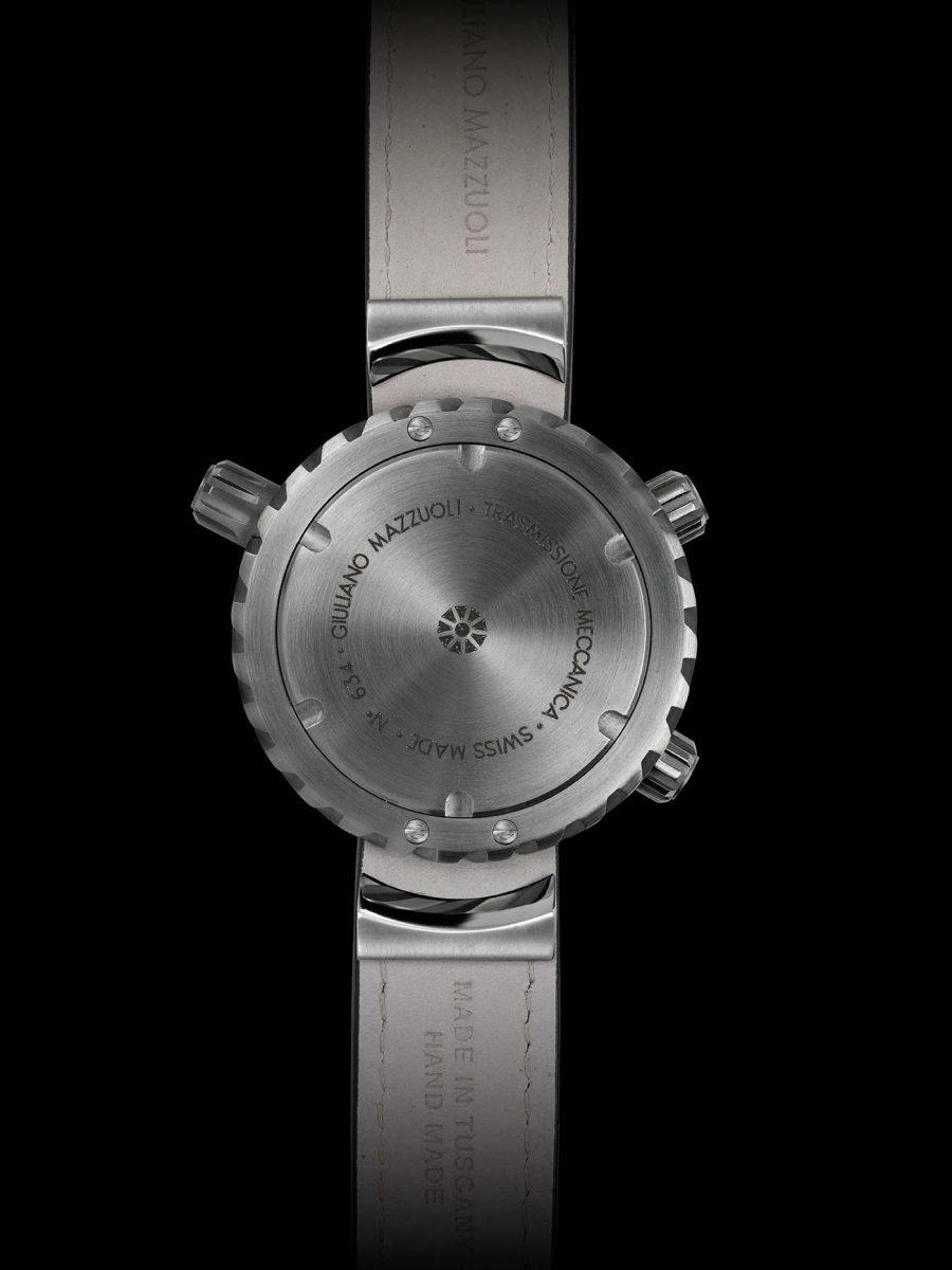 Trasmissione meccanica chronograph watch back