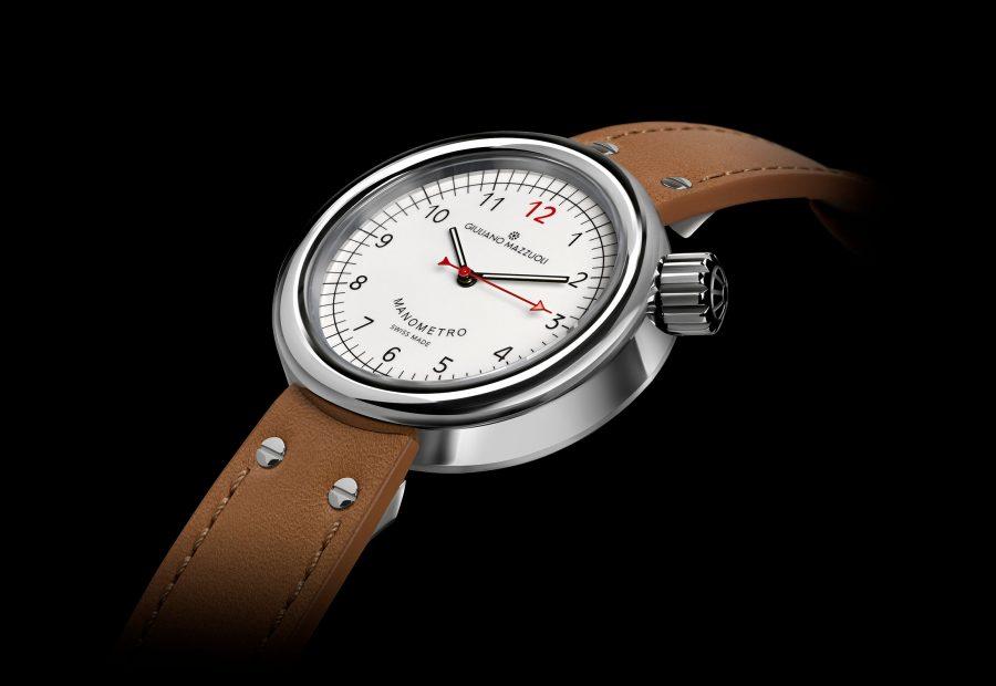 GM MANOMETRO COMPRESSED 3 4 white dial