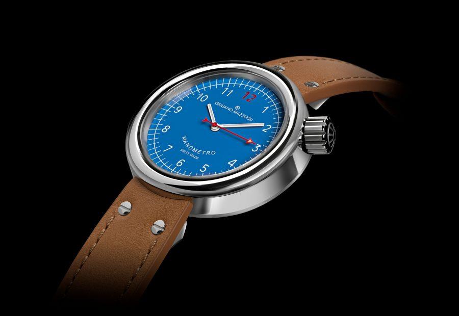 MANOMETRO COMPRESSED 3 4 blue dial