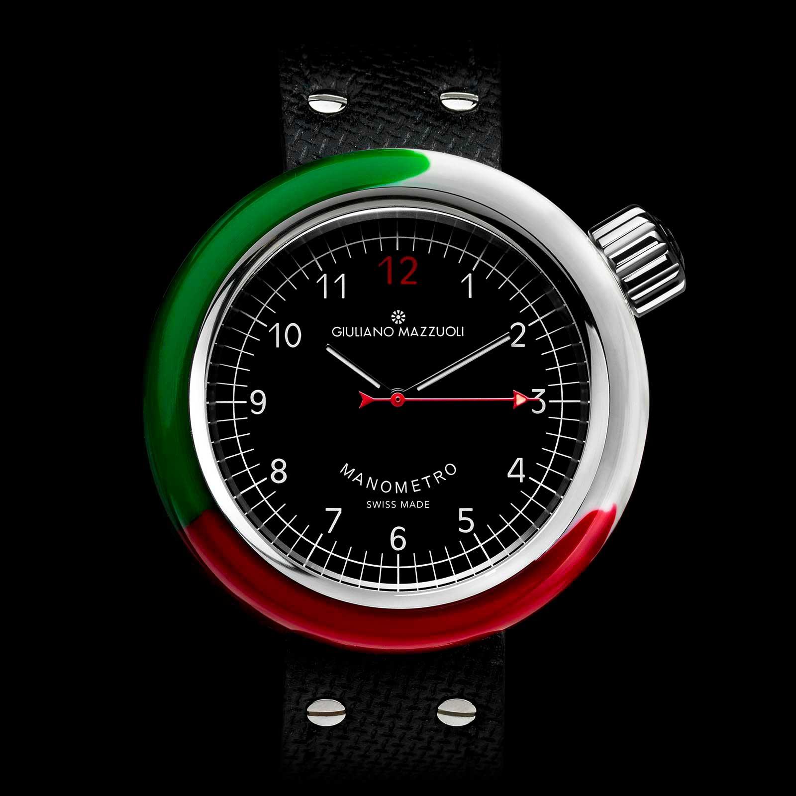Manometro Italia front web nero