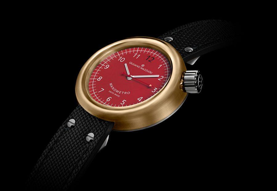 GM MANOMETRO COMPRESSED bronzo 3 4 red dial